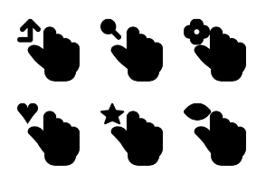 Smashicons Hand Gestures MD - Solid - Vol 2