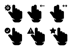 Smashicons Hand Gestures - Solid - Vol 2