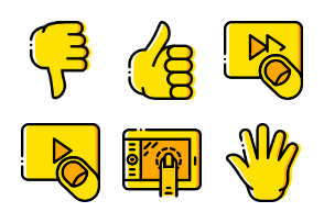 Smashicons Hand Gestures - Yellow - Vol 2
