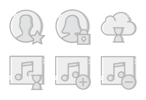 Smashicons Interactions - Greyscale - Vol 6