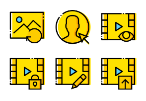 Smashicons Interactions - Yellow - Vol 6