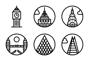 Smashicons Monuments - Outline