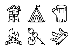 Smashicons The Outdoors - Outline