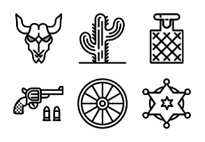 Smashicons Wild-West - Outline