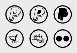 Social Icons - Circular Black
