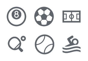 Sport Fill icons Set