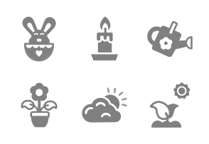 Spring and Easter - Glyph Monocolor