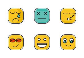 Square Emots Set