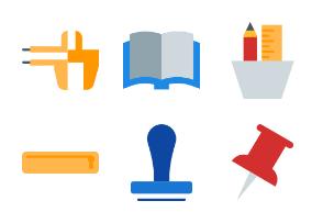Stationery items - Flat Style