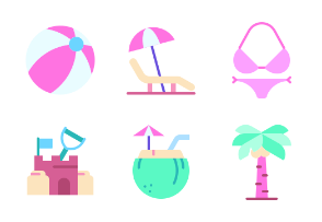 Summer Holiday Flat Colors