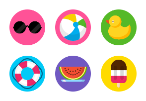 Swimming Flat icons