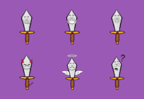 Sword Emoji Cartoons