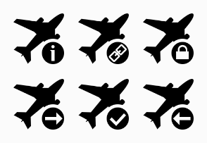 Symbol Black Airplane