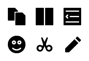 Text Editor UI (black)