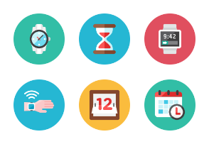 Time Icons - Rounded
