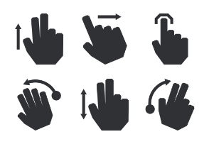 Touch Gestures - Glyph