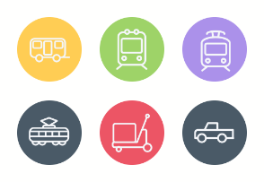 Transport, Transportation and Auto Services Icons