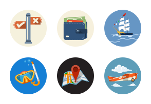 Travel iconflat