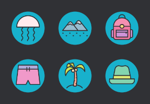 Travel & Vacation Glyph Color