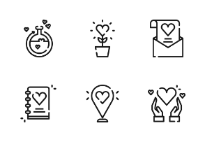Valentine With Outline Iconset