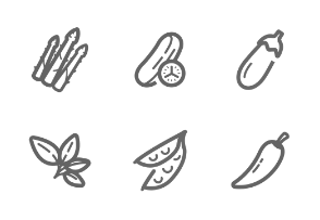 Vegetable Mini Outline Stroke
