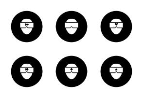 Virtual reality - filled circle