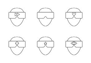 Virtual reality - Outline thin