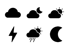 Weather (glyph/solid)
