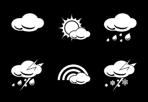 Weather Glyphs White