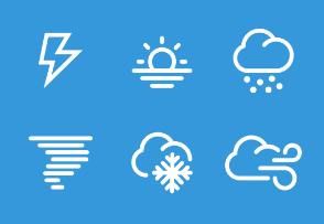 Weather icons in thick line style
