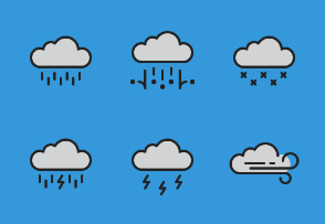 Weather  - Colored, Outlined, Pixel Perfect