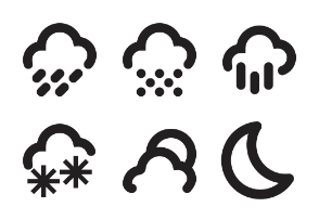 Weather Symbols Collection