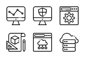 Web Design Development 2 LineArt