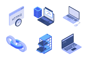 WHCompare Isometric Web Hosting & Servers