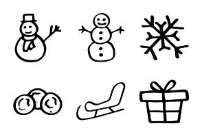 Winter: Hand Drawn