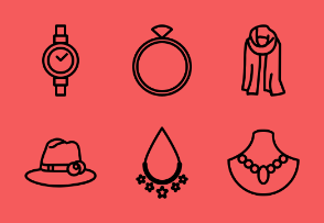 Woman Accessories Outline