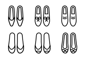 Woman Footwear - Outline