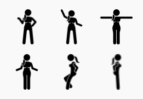 Woman Standing Actions and Movements