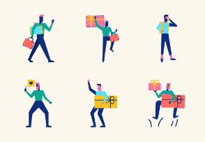 Woohoo Shopping Characters