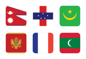 World Flags Half Rounded Vol 2