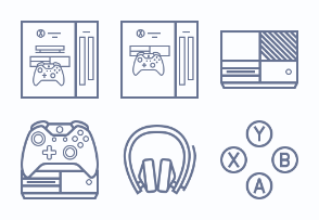 Xbox One console (outline)