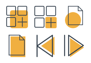 Yellow Business Icons 4