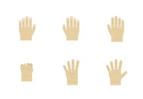 Yellow hand gestures
