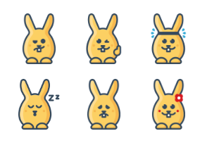 Yellow rabbits