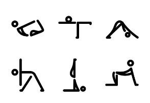 Yoga - Thick True Line - Black-and-White